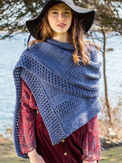 Tala Wrap Knit Pattern Shawl Yall And Ponchos Pinterest Knit