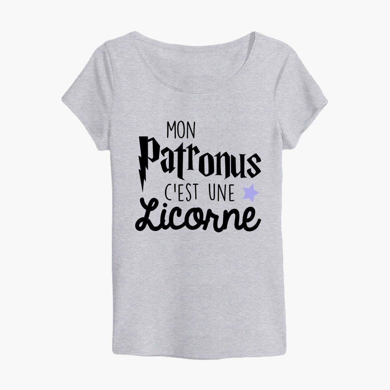 tshirt harry potter mon patronus c 39 est une licorne harry potter tshirt pull sweatshirt. Black Bedroom Furniture Sets. Home Design Ideas