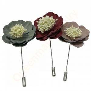 multicolor tuxedo camellia suit flower brooch for men and women