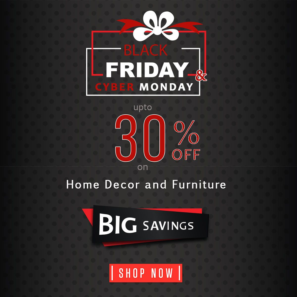 Black Friday Cyber Monday Home Decor And Furniture Sale Shop The