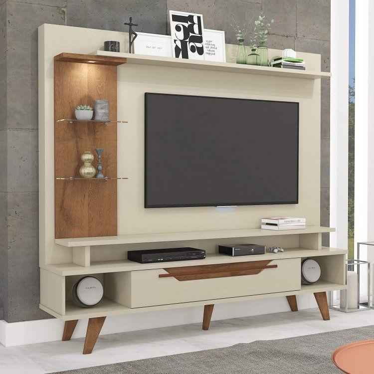 Estante Home Theater Para Tv Até 55 Polegadas Aron: Estante Home Para TV Até 55 Polegadas Com LED 1 Gaveta