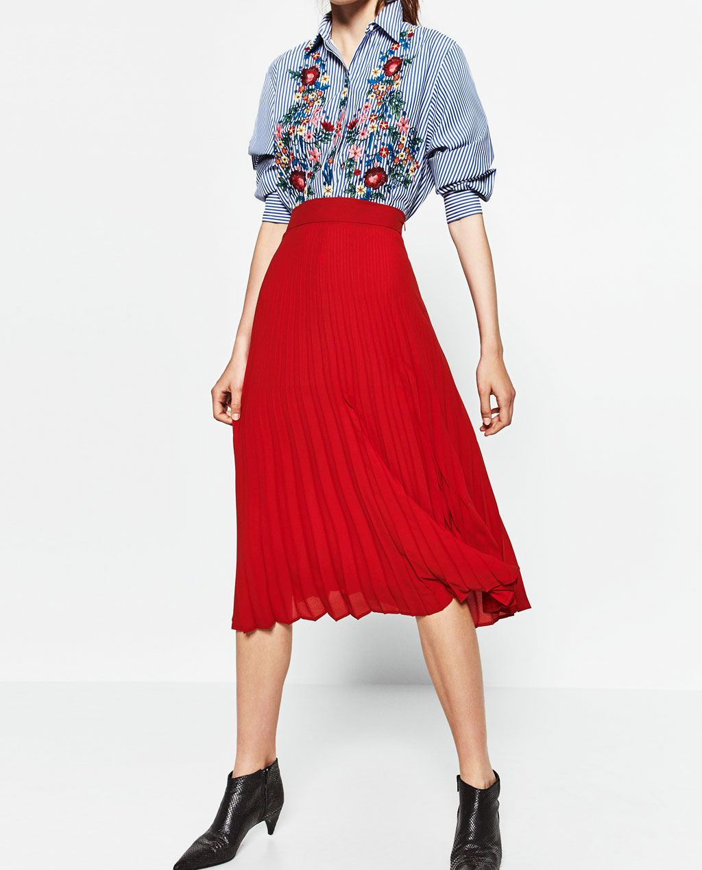 Image 2 of PLEATED MIDI SKIRT from Zara | Wardrobe | Pinterest