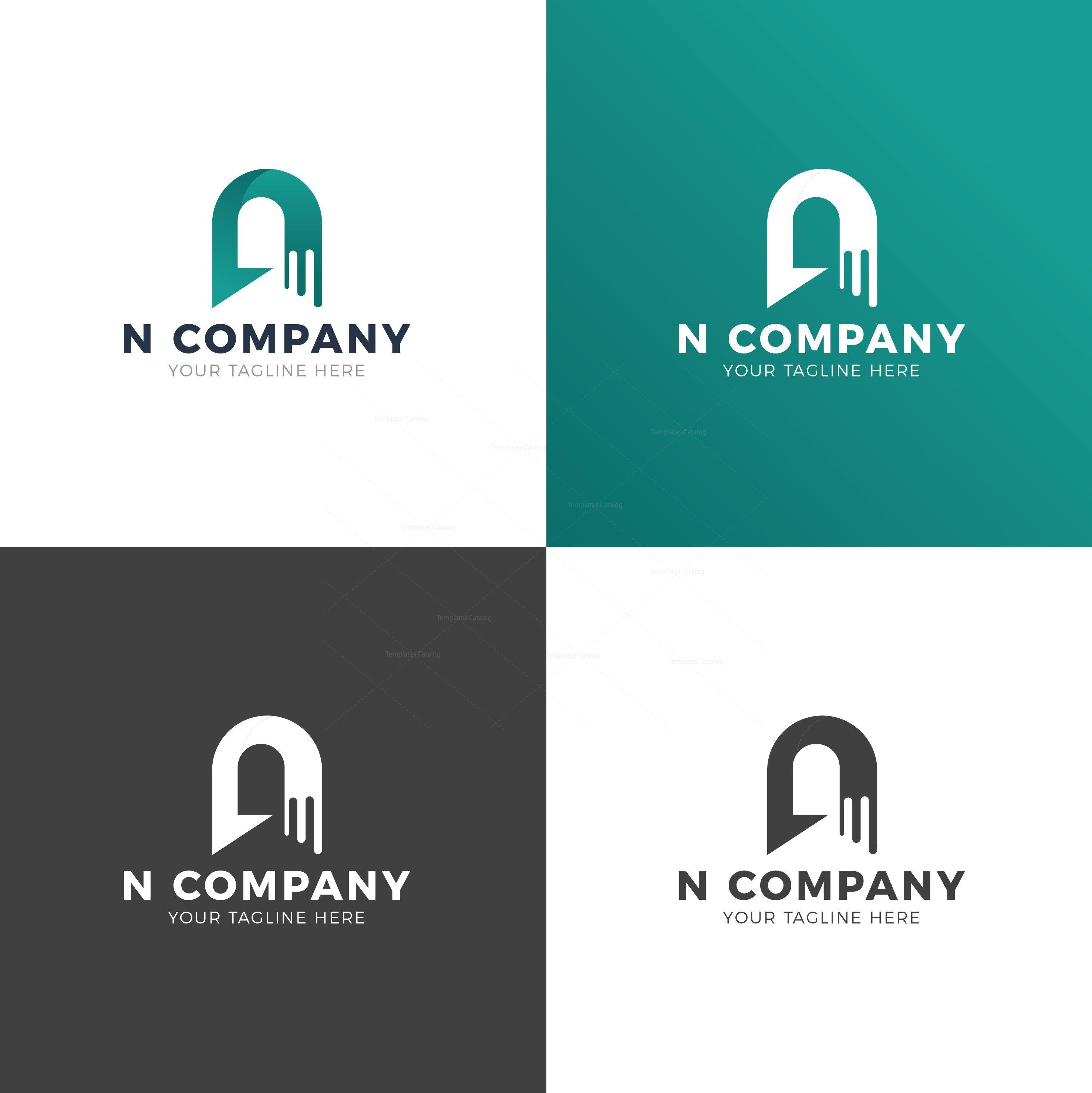 N Company Professional Logo Design Template 001926 Logo