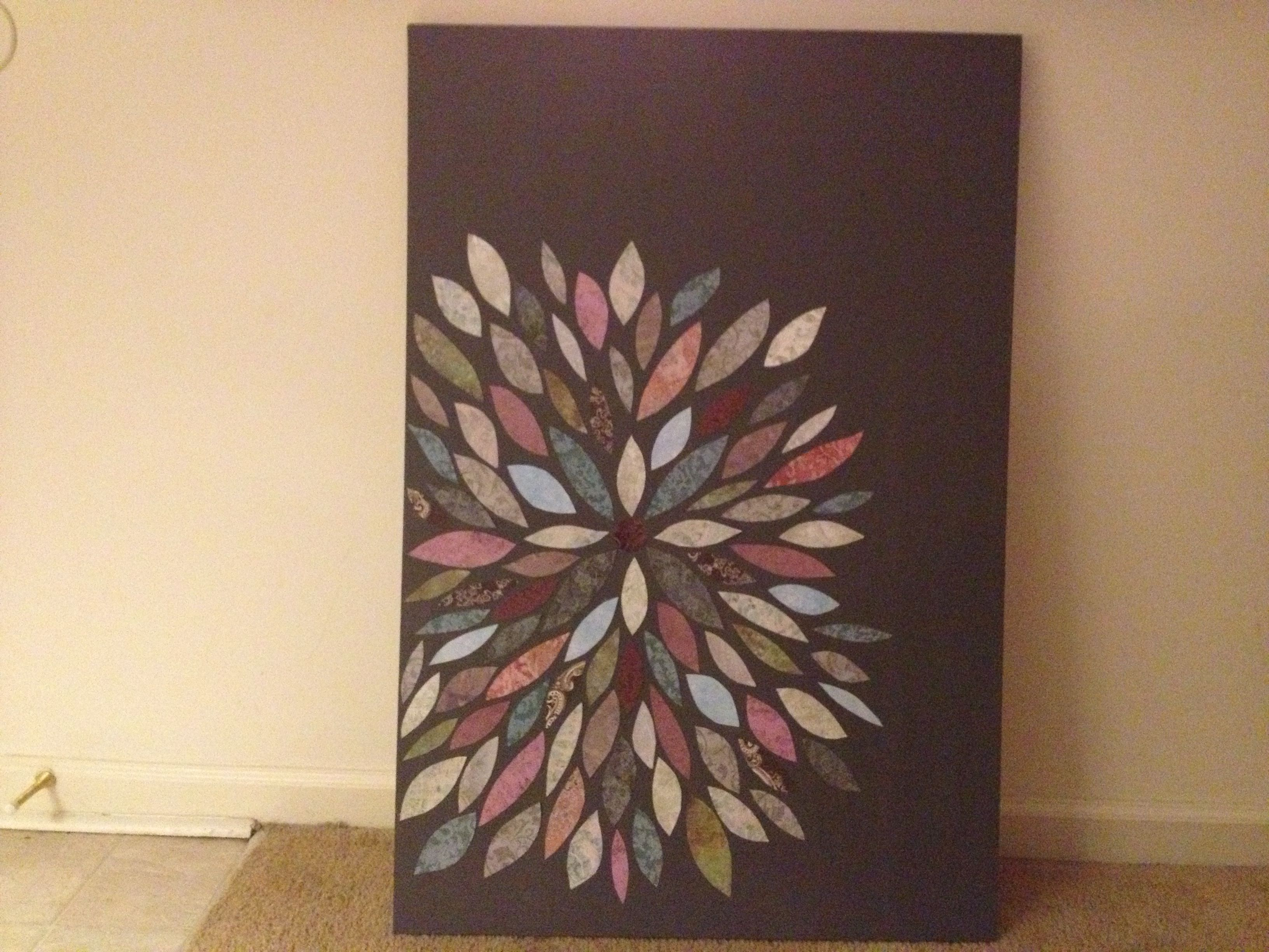 Do It Yourself Art: DIY Canvas Wall Art With Cardstock