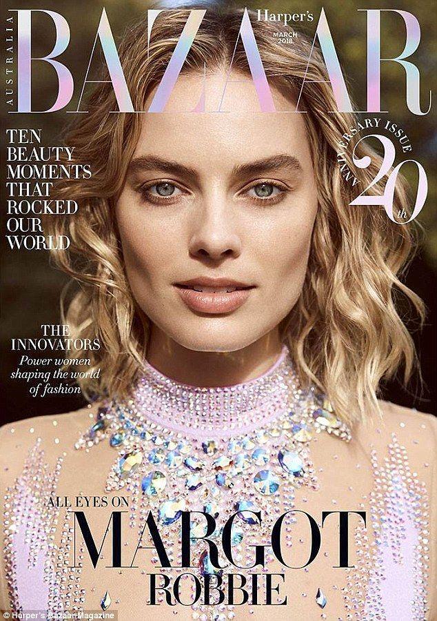 Margot Robbie dazzles on the cover of Harper's Bazaar