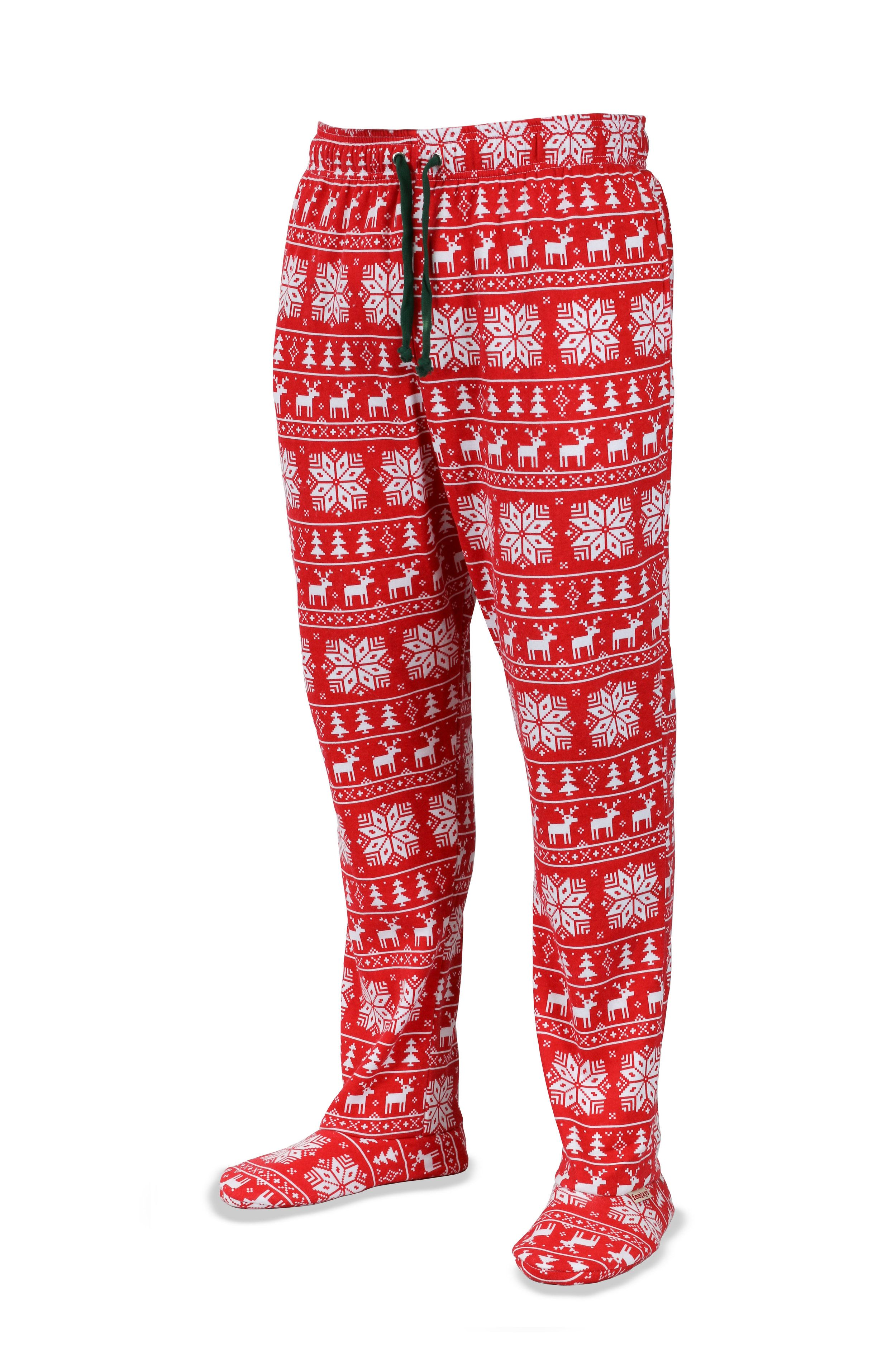 Holiday Feejays Sweatpants With Built In Socks For People Cold Feet They Come A Variety Of Patterns And Colors