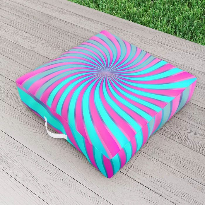 SOLD Spiral Vortex G232 Outdoor Floor Cushion #Society6 #outdoor #floor #cushion #pillow #pillows #cushions #spiral #vortex #turquoise #pink #abstract #garden #artworks #graphic #water #resistant #lifestyle #modern #home #homedecor #homedesign #garden cushion pink SOLD Spiral Vortex G232 Outdoor Floor Cushion
