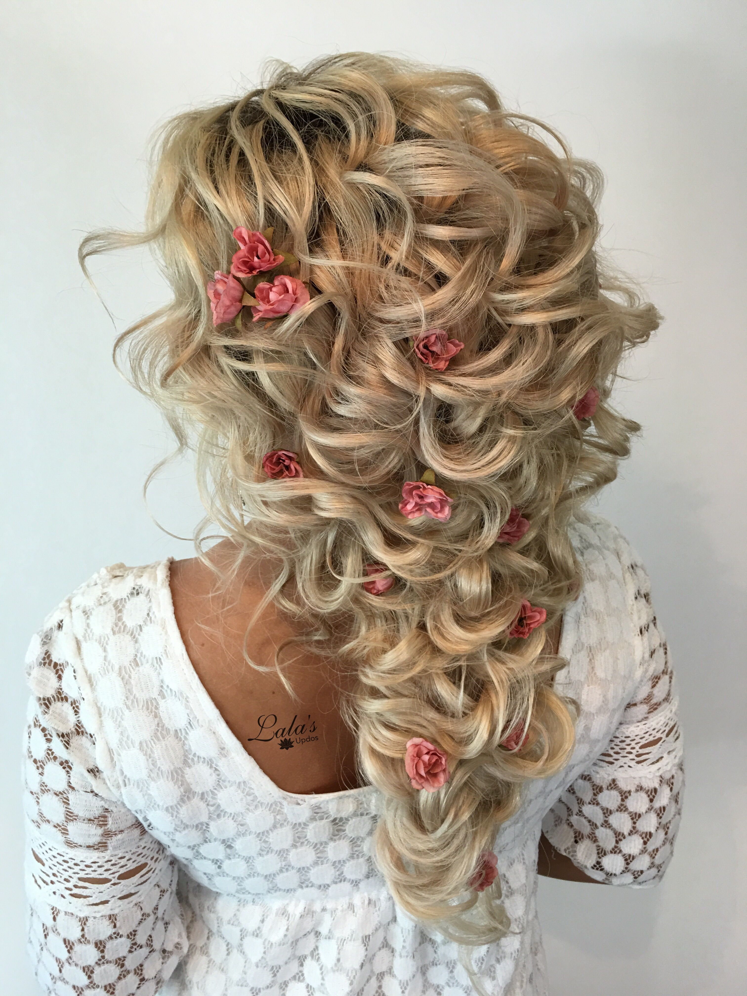 Curly style / Down Do / Romantic bridal style / Bridal Style ...