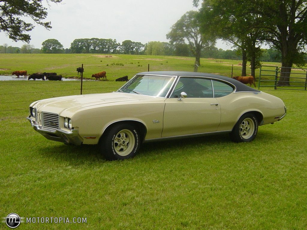 1972 cutlass mine was not a 442 was gold with black vinyl top