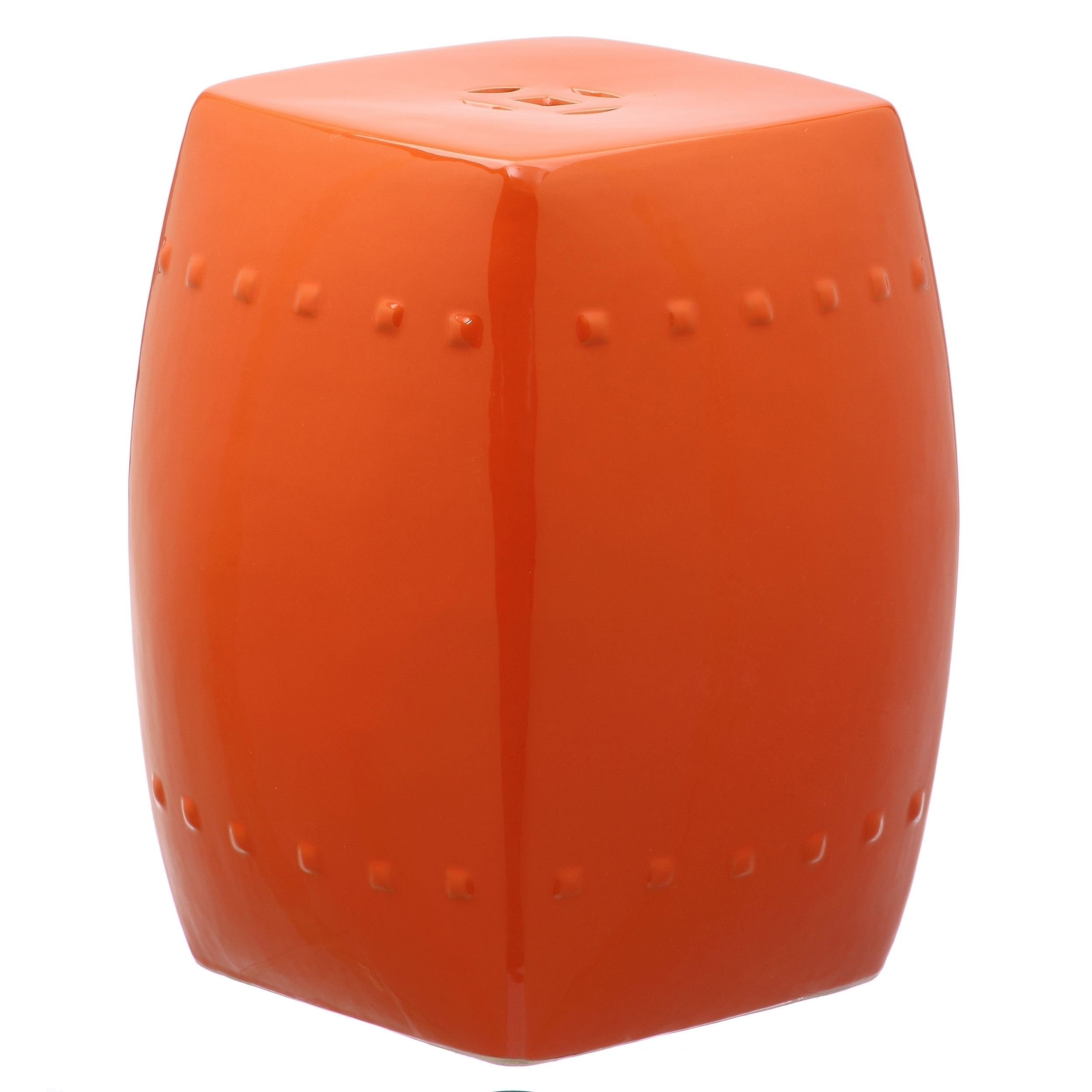 Safavieh Villa Orange Garden Stool 15 Quot X 15 Quot X 17 5