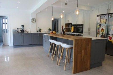 Interior Two Level Kitchen Island Elegant 37 Comfy Islands With Breakfast Nooks Comfydwelling Contemporary Kitchen Design Contemporary Kitchen Kitchen Design