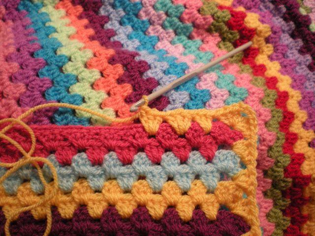 granny stripe blanket   uncinetto da provare e creare   Pinterest ...