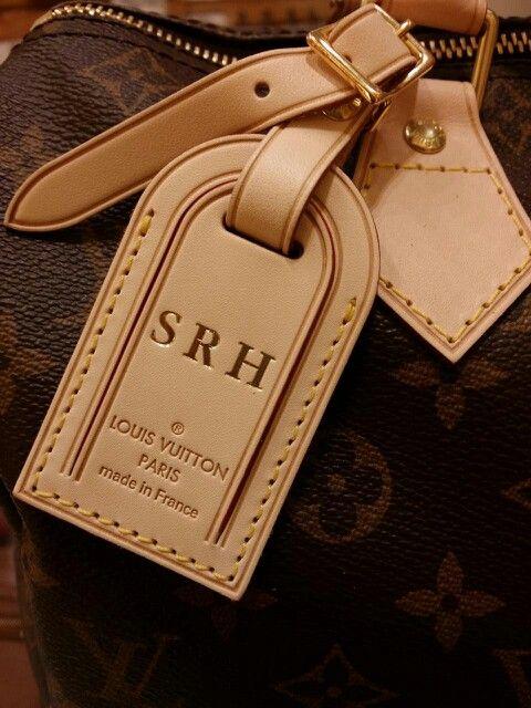 Monogram Louis Vuitton Luggage Tag on Speedy 35   *Handbag BLISS ...
