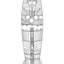 egyptian sarcophagus coloring page