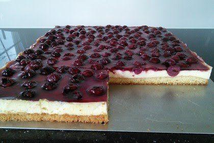 Kirsch Schmand Blechkuchen Kuchen