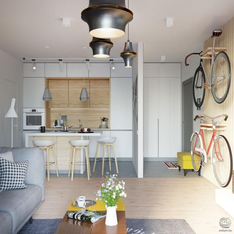 25 Cool Grey And Yellow Open Plan Small Apartment Tour Inspirations Open Plan Kitchen Living Room Small Apartment Tour Small Open Plan Kitchens #small #open #concept #living #room