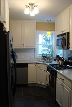 Image Result For Small Galley Kitchen With Corner Sink Corner Sink Kitchen Kitchen Design Decor Rustic Kitchen Sinks