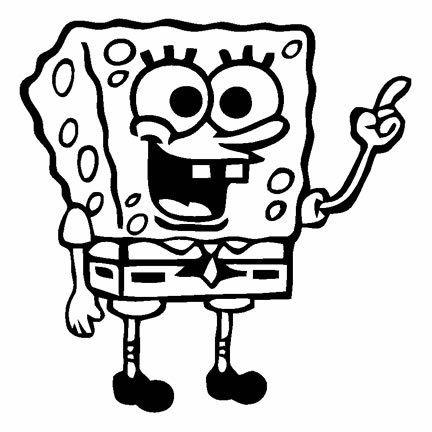 Spongebob Square Pants Black Car Truck VINYL Decal Art Wall - Spongebob decals for cars
