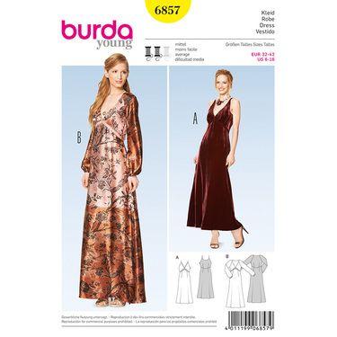 Burda 6857 Women's Dress 6 - 16   Spotlight Australia
