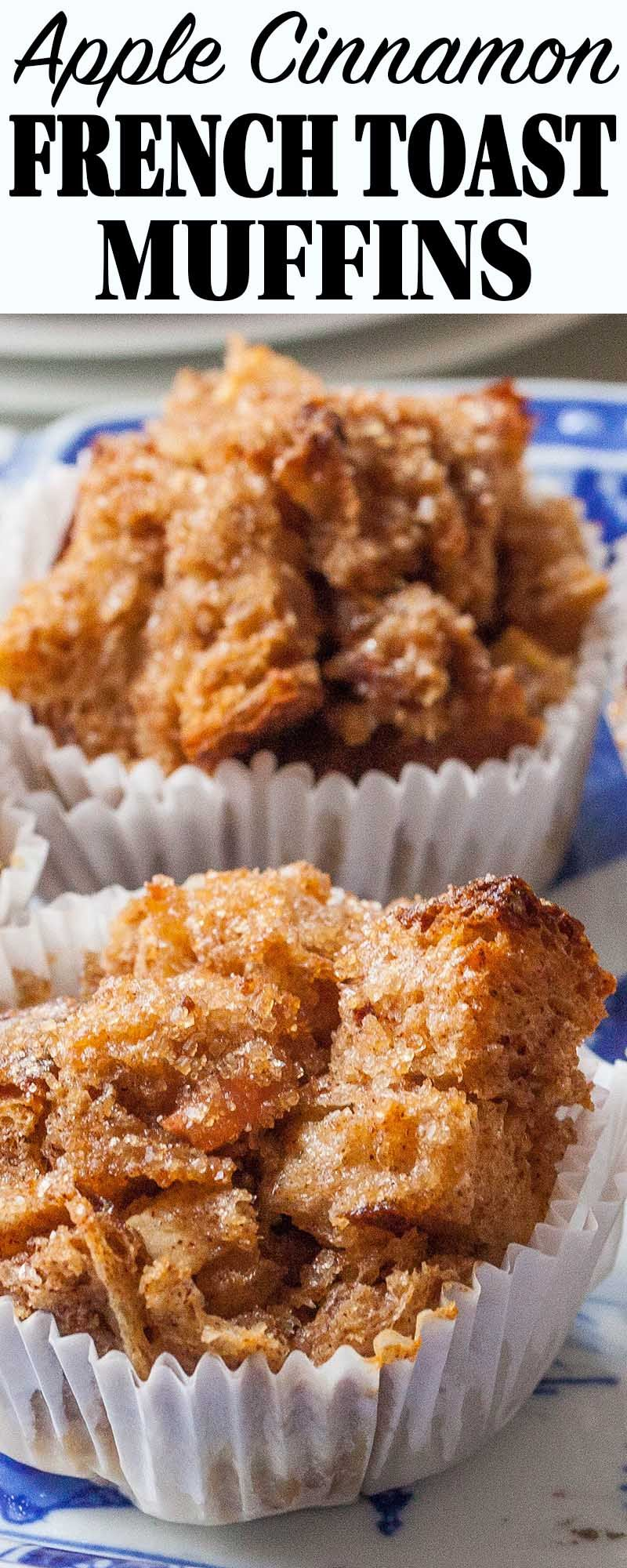 Apple-Cinnamon French Toast Muffins! Bake them right away or the next morning. Leftovers reheat well for weekday breakfasts.
