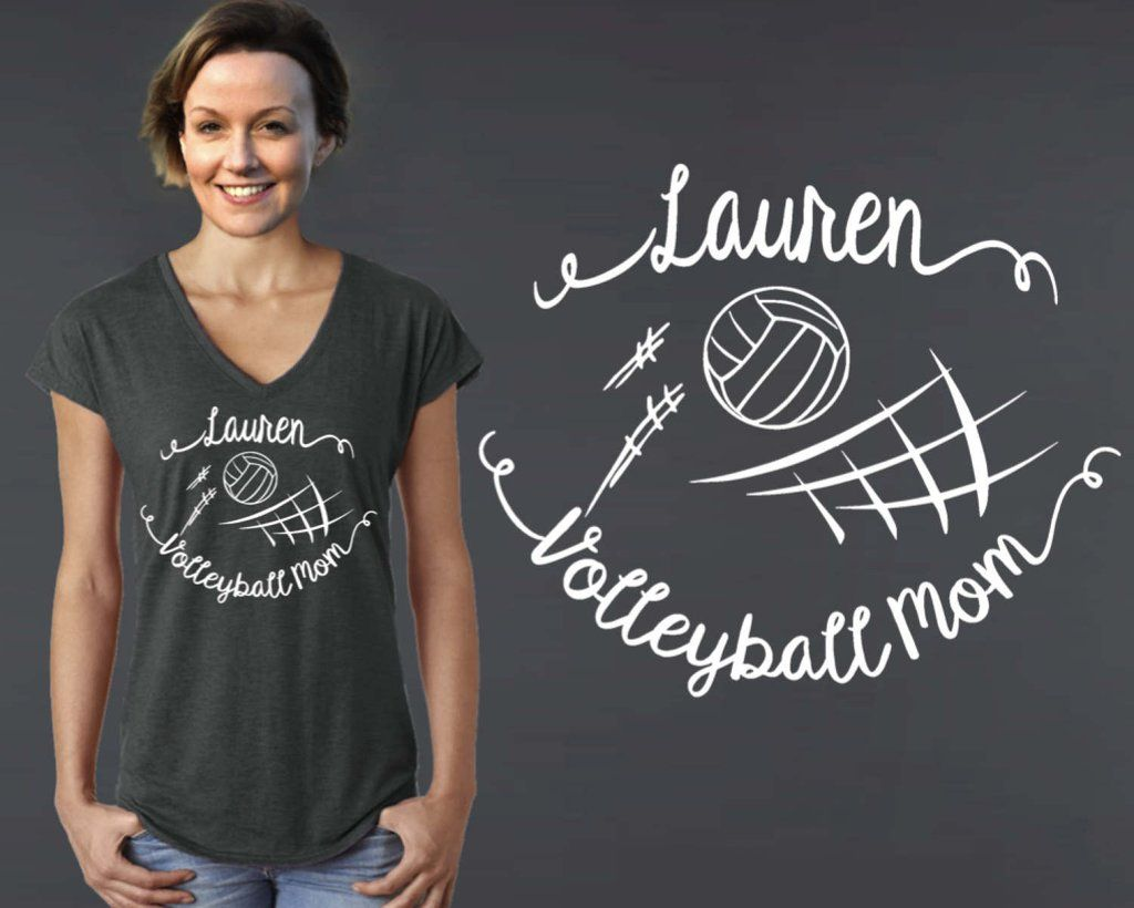 Volleyball Mom Personalized T Shirt Volleyball Mom Mom Tshirts Funny Personalized T Shirts