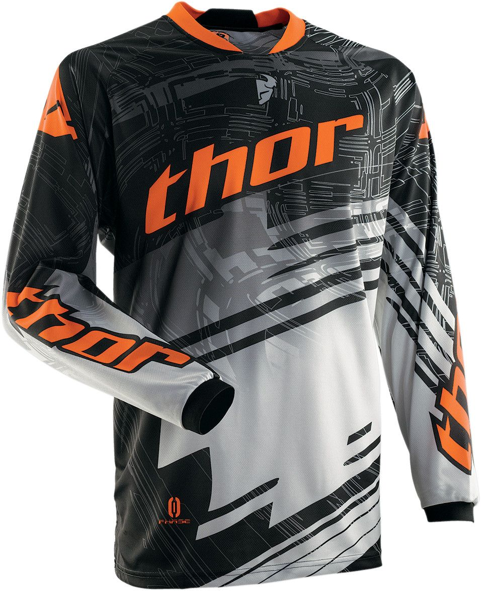Download Thor Youth Phase Swipe Jersey Orange Jersey Design Sports Shirts Mx Jersey