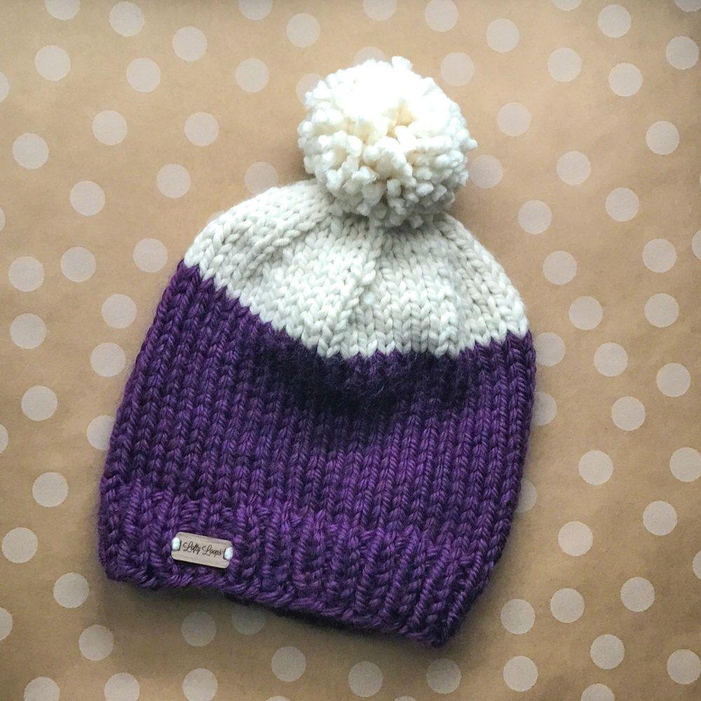 07a662e5758 Custom Color Block Knit Beanie