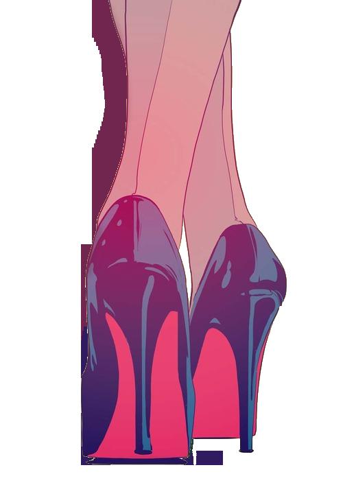 Art Black Cartoon Grunge Girl Heels Tumblr Shoes Fashion Drawing ulFKTc513J