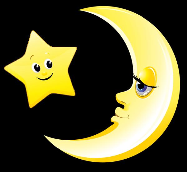 Transparent Cute Moon And Star Clipart Picture Star Clipart Cartoon Drawings Cartoon Bat