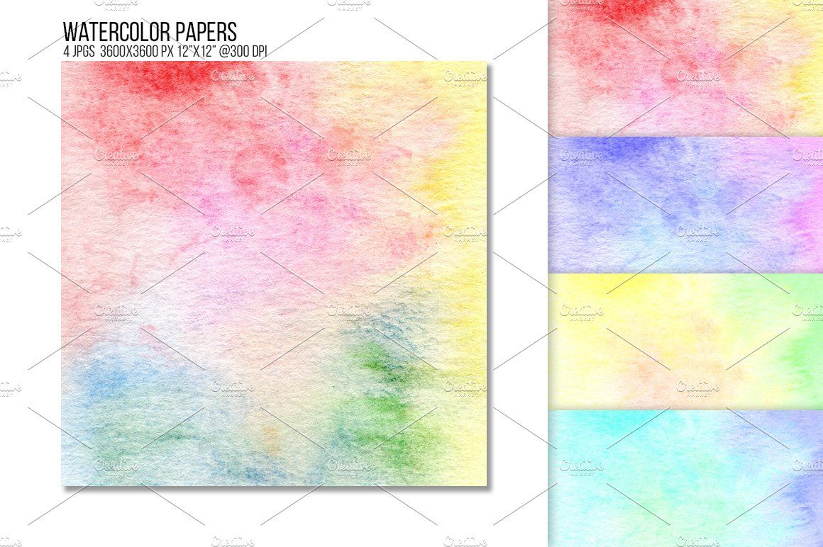 Rainbow Watercolor Paper Texture Ad Wallpapers Watercolor