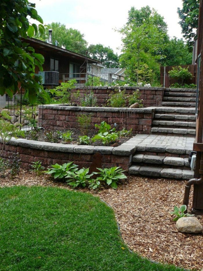 gartenideen gartentreppen garten pflanzen gartengestaltung ideen, Gartenarbeit ideen