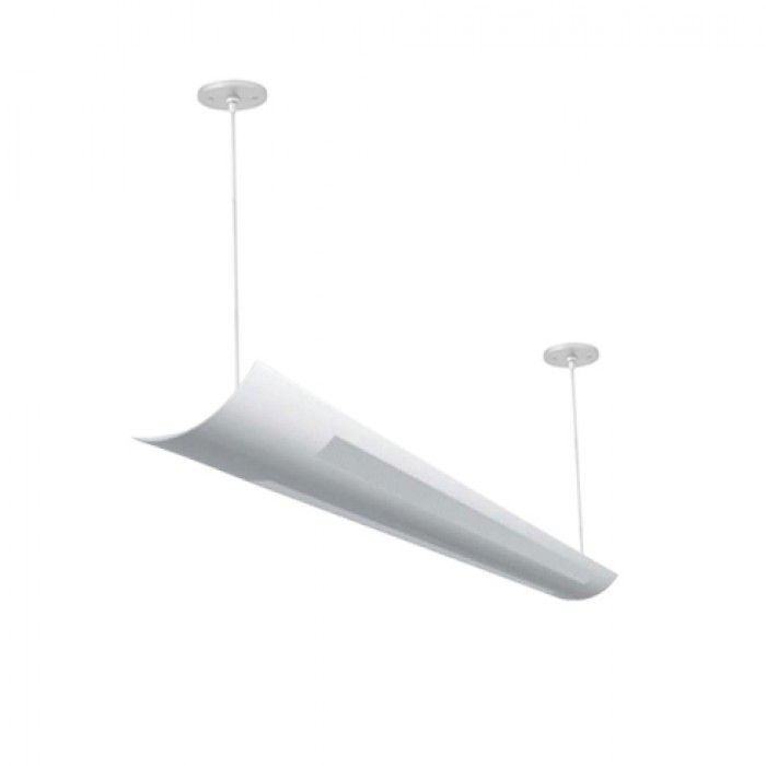 Cecilio 4 Foot T8 And T5 2 Lamp Fluorescent Architectural Suspended Light Fixture Uplight Direct An Led Commercial Lighting Architectural Led Lighting Lamp