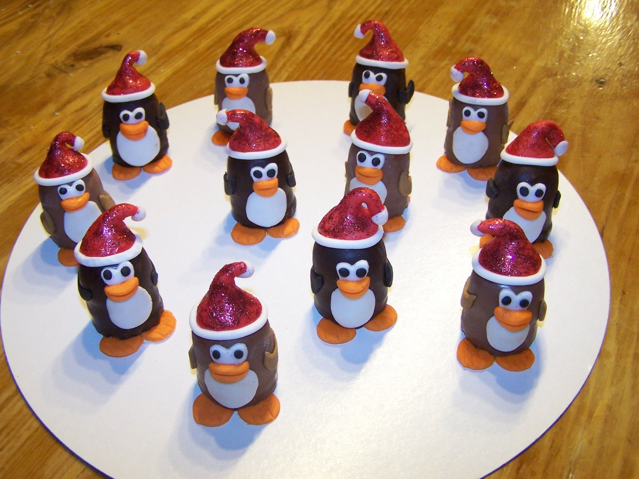 penguin snacks Christmas dinner Pinguïns, Cupcakes en