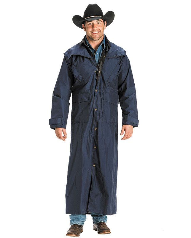 f68aa6822c Schaefer Men s Navy Blue Stockman Rain Slicker