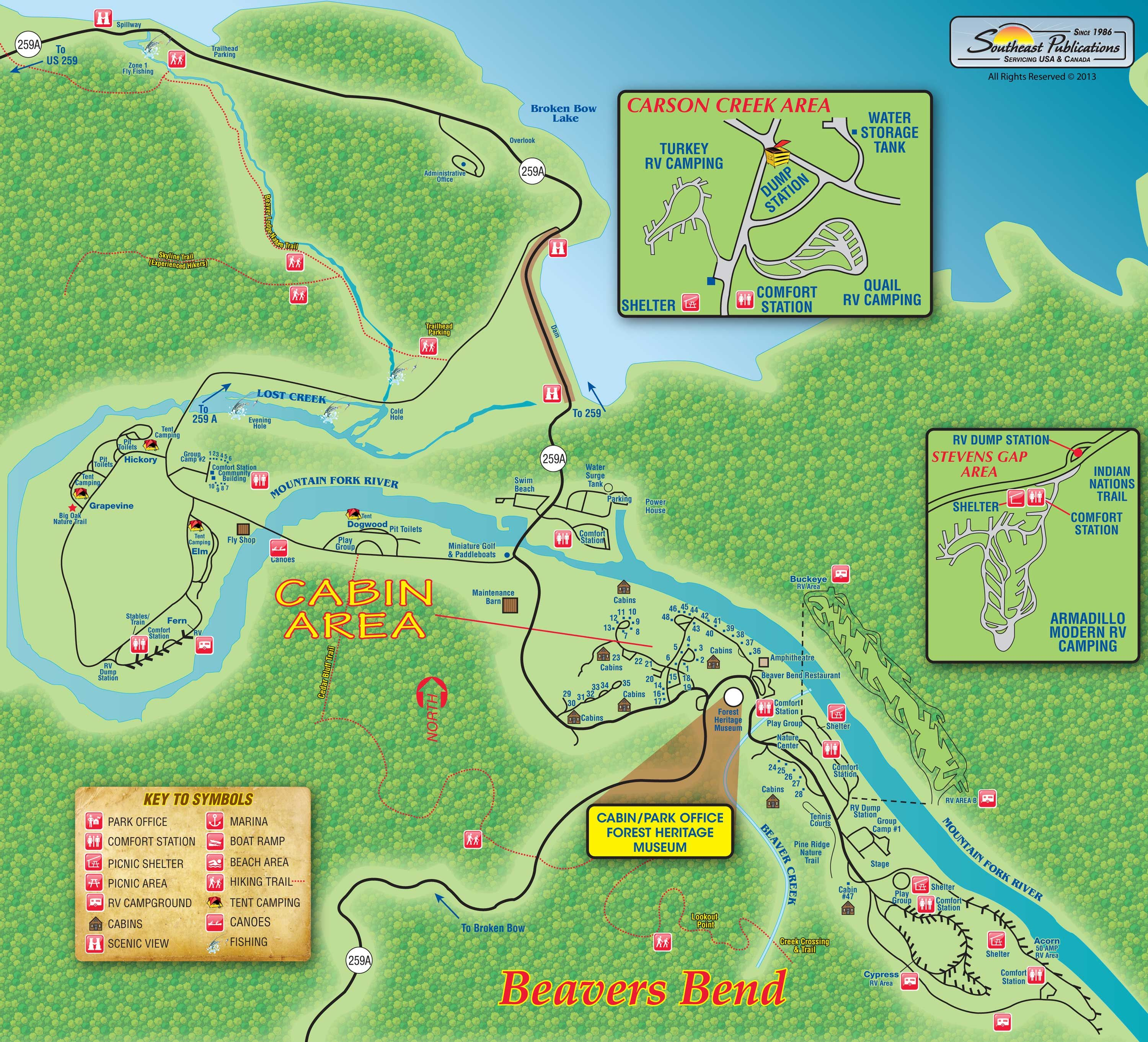 Beavers Bend State Park Map Oklahoma Camping Pinterest - Map of us water parks