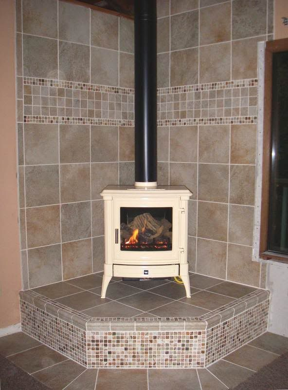 Tiled Wood Stove Hearth | In The Preview (at Least On My Laptop),