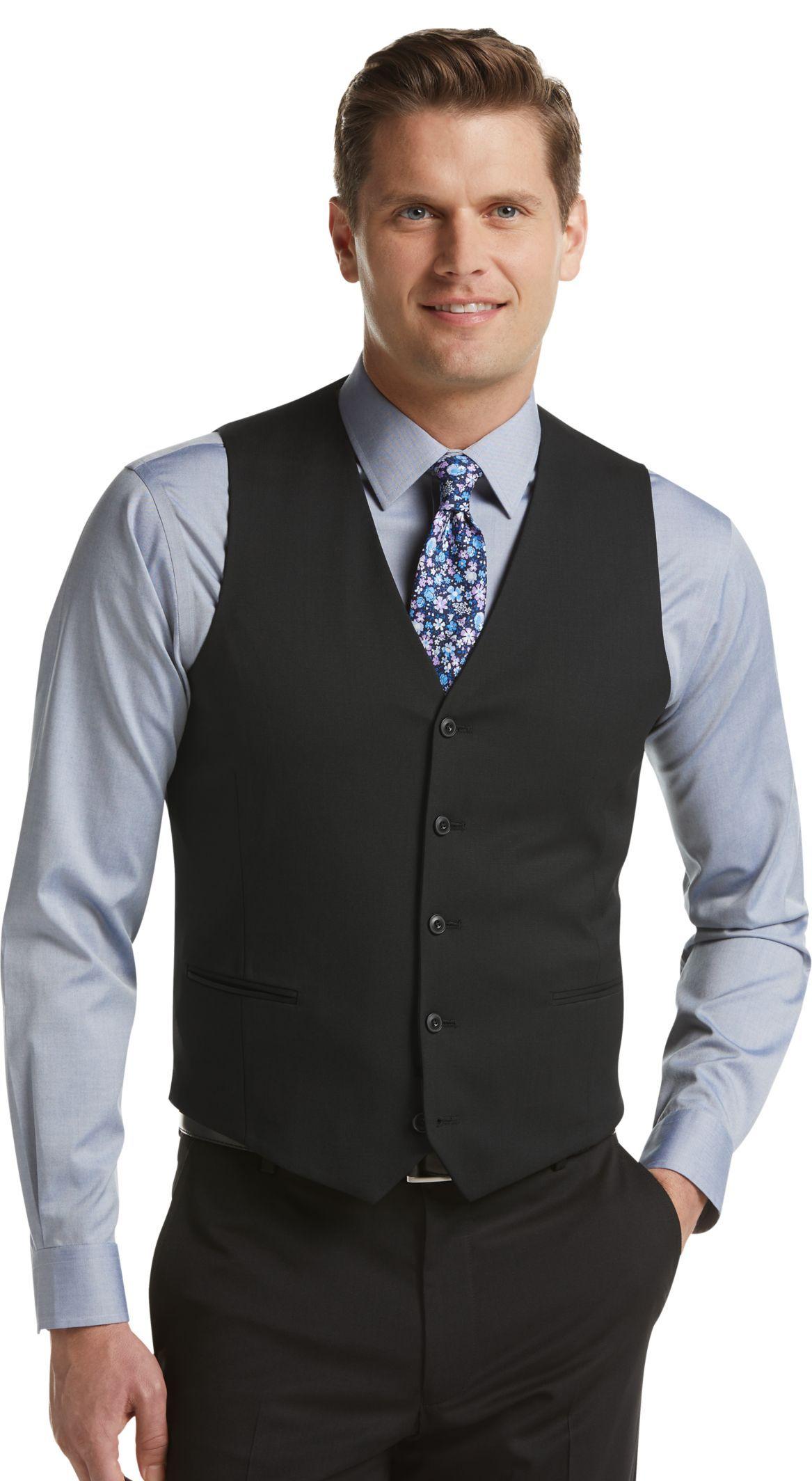 1905 Collection Slim Fit Suit Separate Vest Clearance All Clearance Jos A Bank In 2021 Slim Fit Suit Black Dress Pants Men Fitted Suit [ 2128 x 1167 Pixel ]