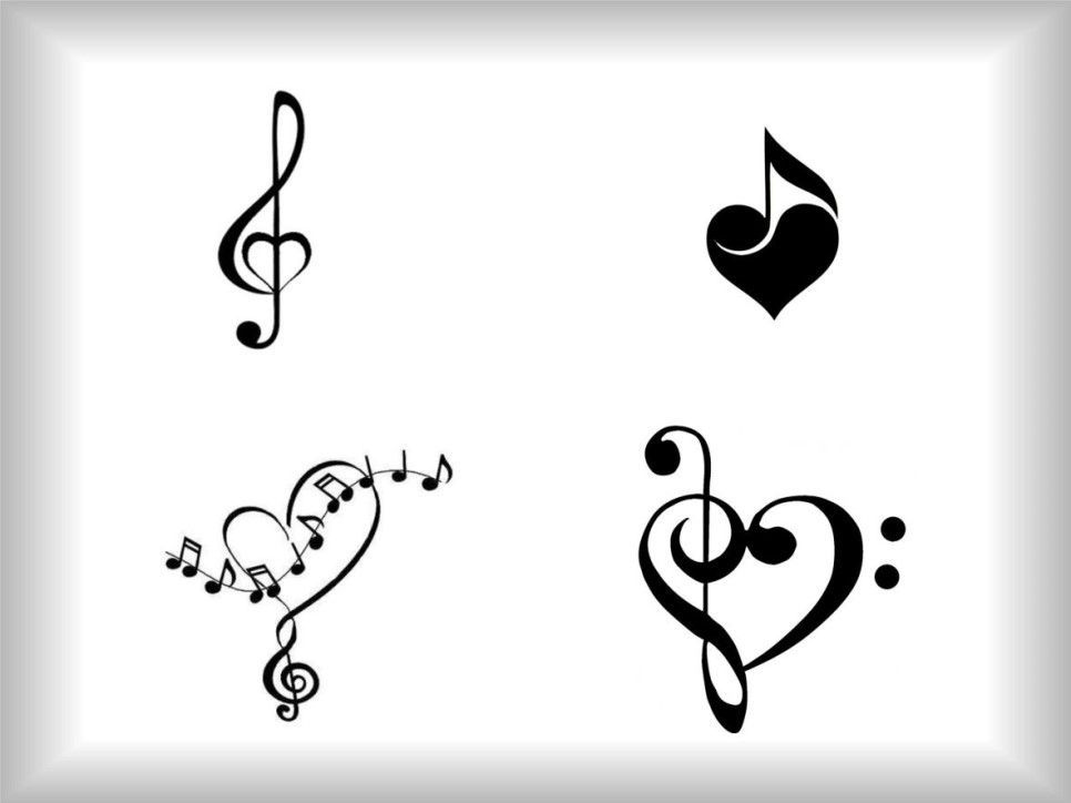 Photo of It is a collection of note tattoo designs decorated with various notes. Today's pattern …