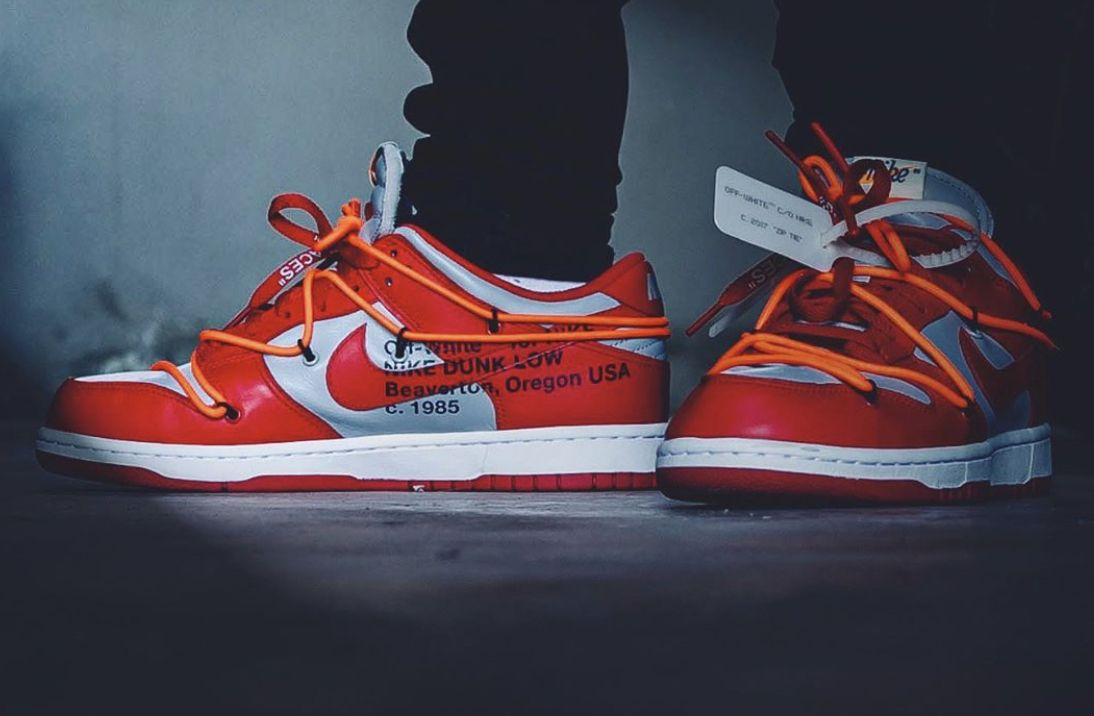 Nike Off White Dunk Low Off White University Red Free