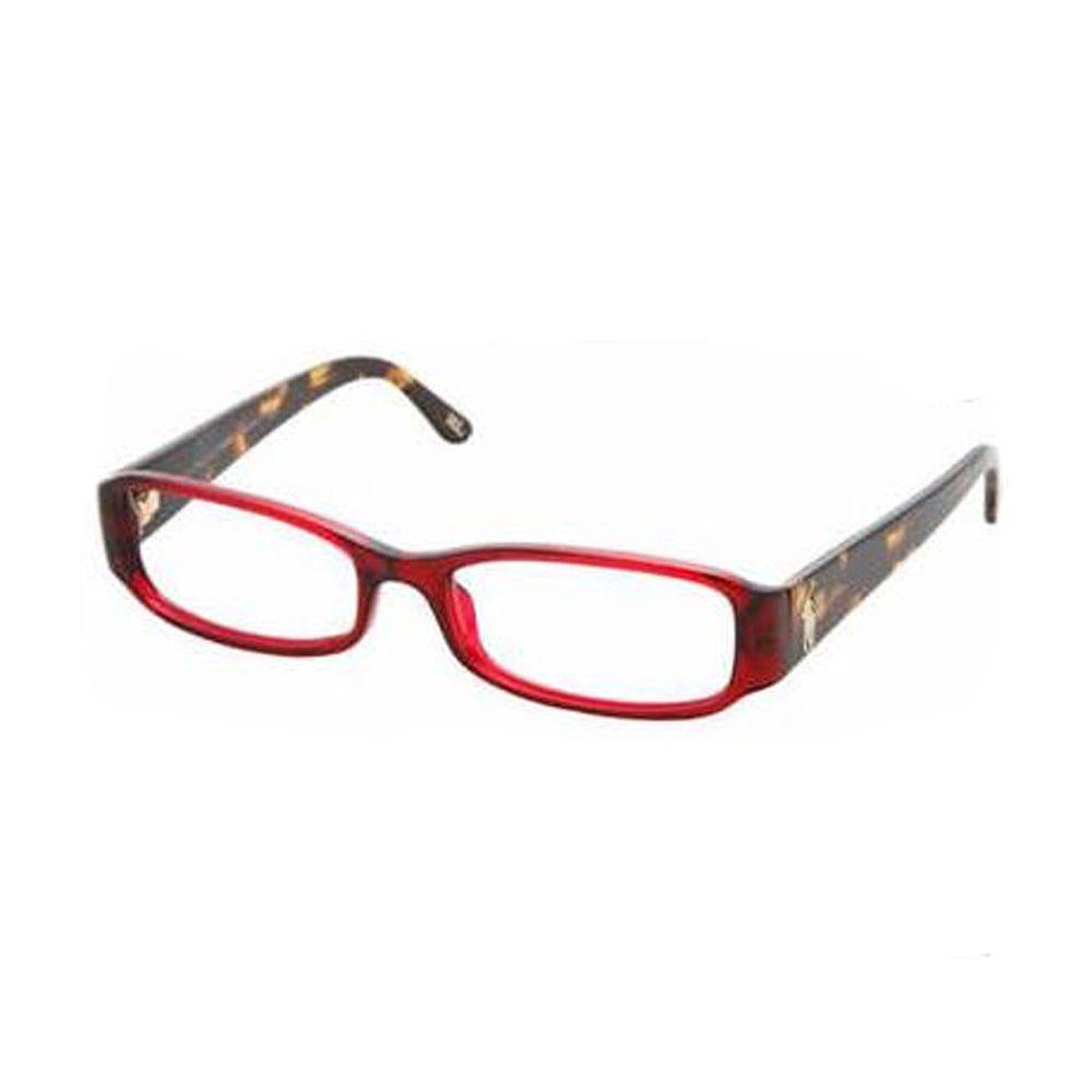 2749dc76d239f Ralph Lauren Transparent Magenta Rectangular Eyeglass Frames 53mm RL6045 NEW