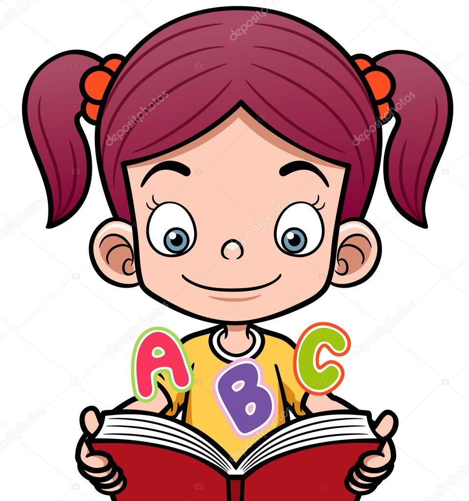 Resultado De Imagem Para Desenho De Menina Lendo Livros Desenho