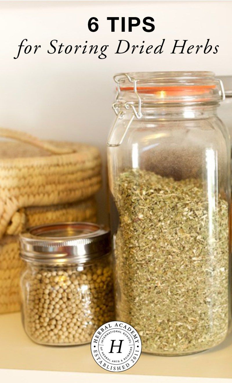 6 Tips For Storing Dried Herbs Drying Herbs Herbalism