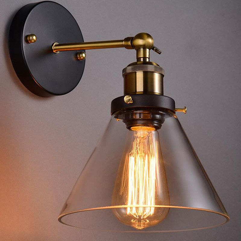 Find More Wall Lamps Information About Vintage Wall Lamps Glass Wall Sconce Industrial Light Fix With Images Wall Mounted Lamps Wall Mount Light Fixture Wall Mounted Light
