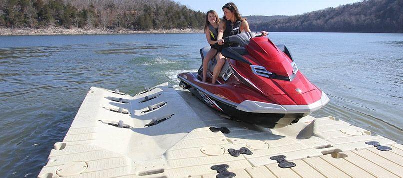 Wave Runner Mounted Lift | Jet ski dock | Floating dock, Jet