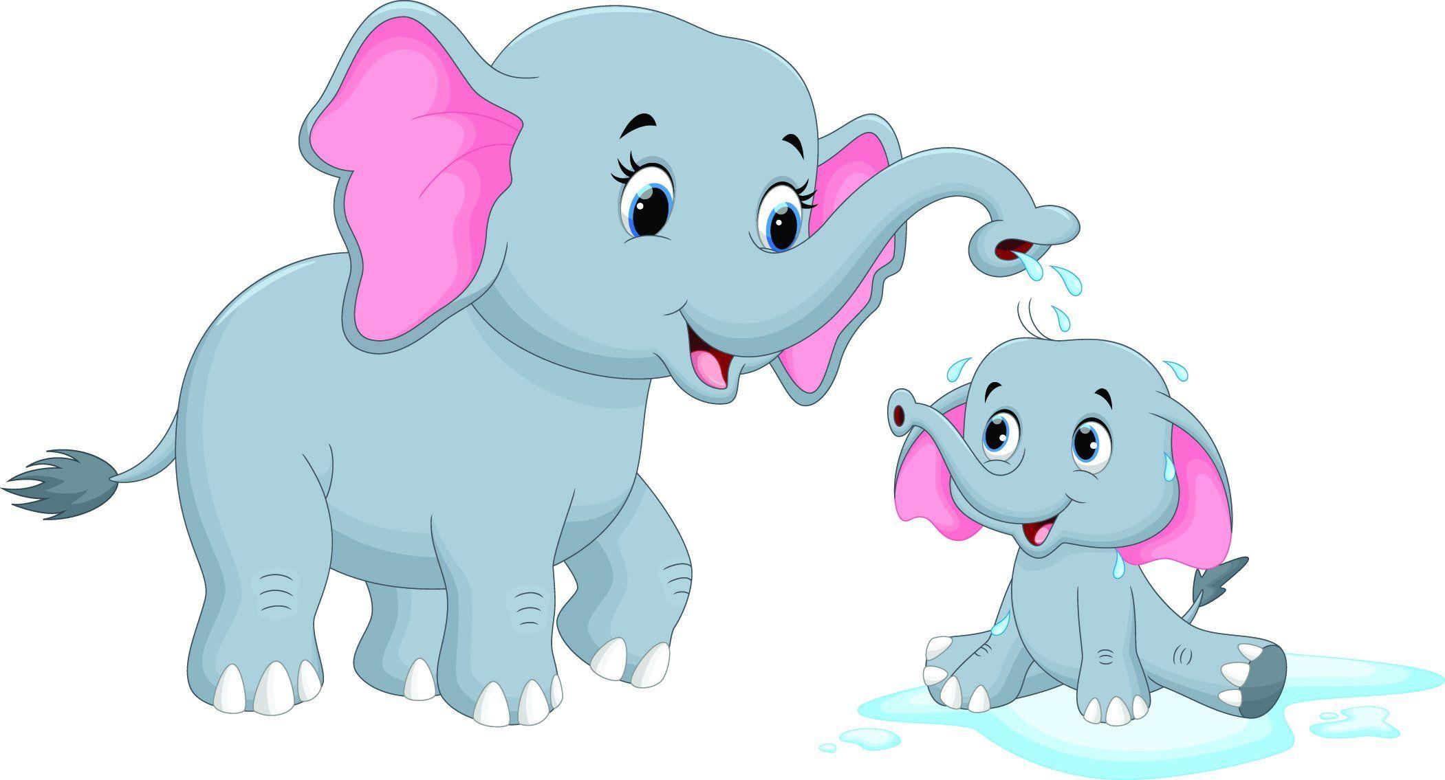 Childrens Fabric Elephant Fabric Mom And Baby Elephant