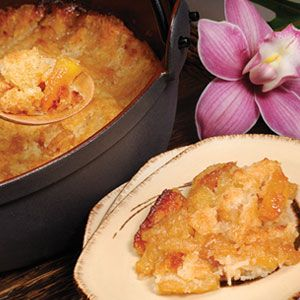Pineapple-coconut cobbler made famous at Aulani's 'AMA'AMA restaurant