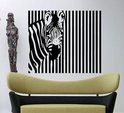 Zebra Pattern Stripes Barcode Zoo Animals Wall Decal Art Vinyl