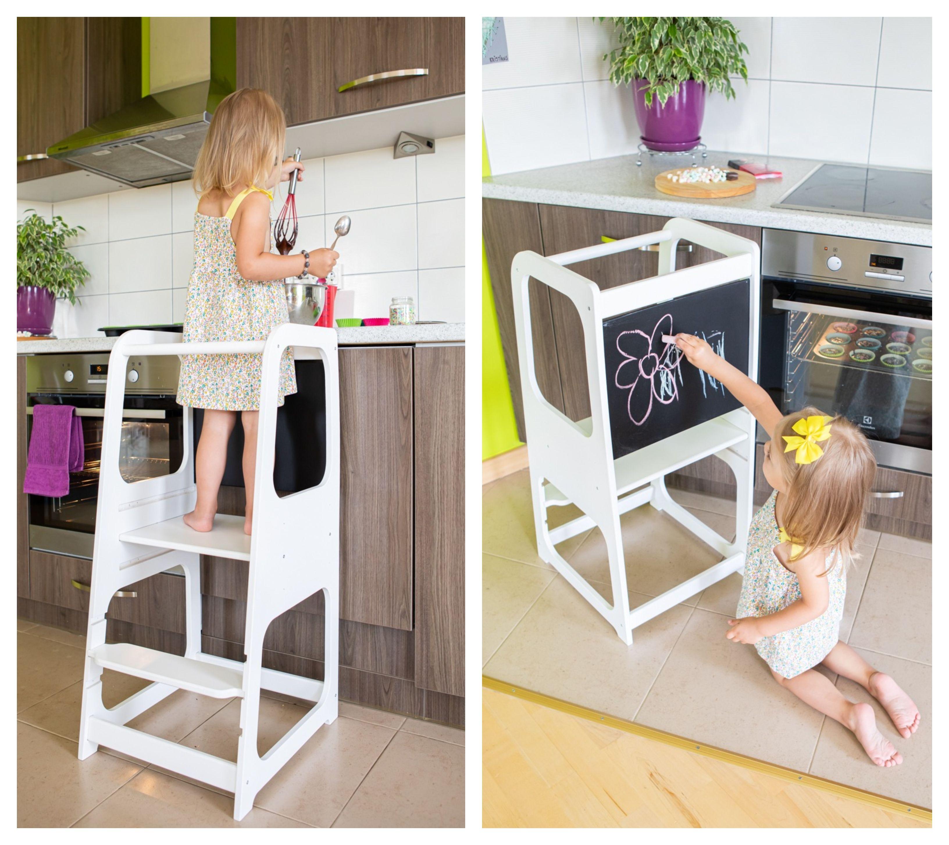 Kitchen tower, Kitchen helper tower, Kitchen stool, Toddler step stool, kids step stool, Montessori furniture, kitchen chair