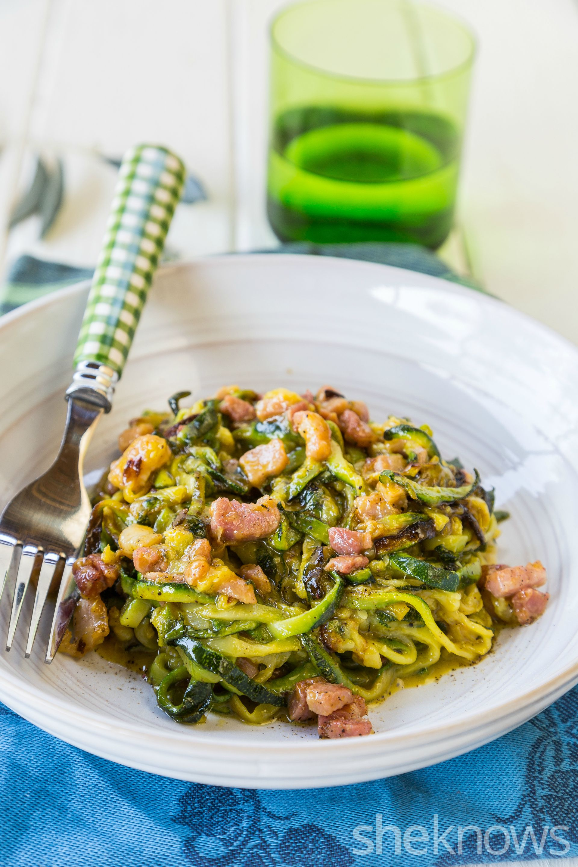 Keep the classic carbonara taste but make this recipe healthier thanks to…