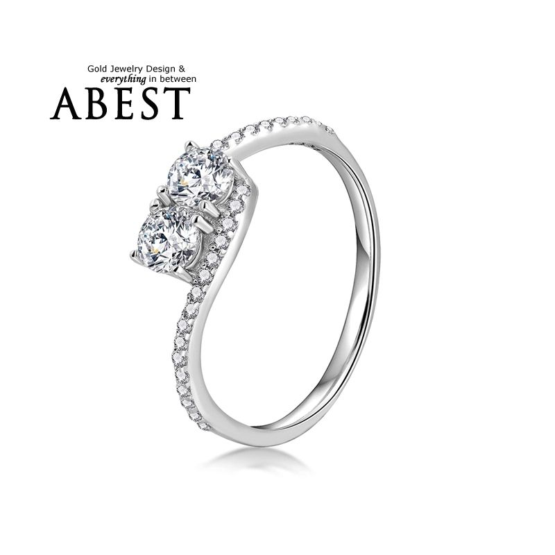 Epinki Wedding Engagement Ring for Women Cubic Zirconia Crystal Geometry Silver Women Accessories